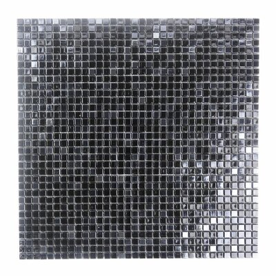 Galaxy Straight 0.31 x 0.31 Glass Mosaic Tile in Dark Gray