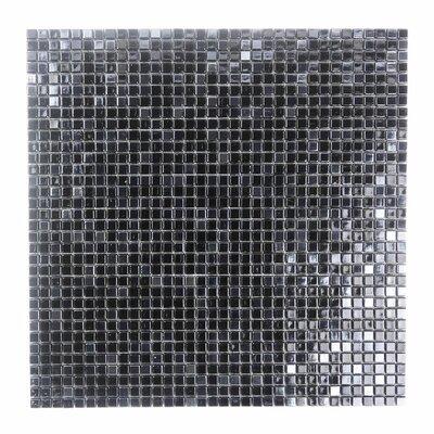 Galaxy Straight 0.31 x 0.31 Glass Mosaic Tile in Dark Gray