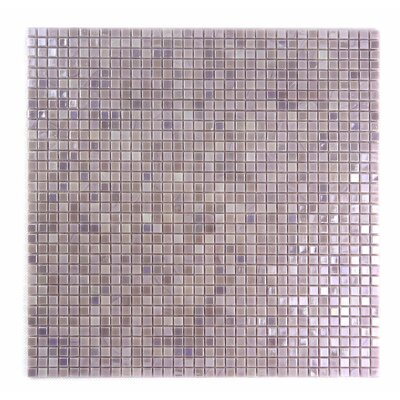 Galaxy Straight 0.31 x 0.31 Glass Mosaic Tile in Light Purple