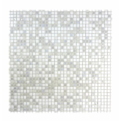 Galaxy Straight 0.31 x 0.31 Glass Mosaic Tile in White
