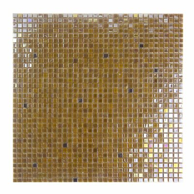 Galaxy Straight 0.31 x 0.31 Glass Mosaic Tile in Glazed Brushed gold