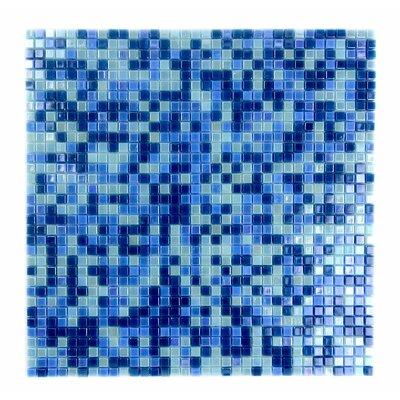 Galaxy Straight 0.31 x 0.31 Glass Mosaic Tile in Glazed Blue