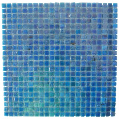 Ecologic 0.38 x 0.38 Glass Mosaic Tile in Glazed Blue