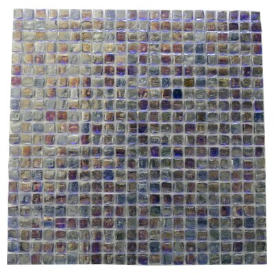 Ecologic 0.38 x 0.38 Glass Mosaic Tile in Purple/Blue