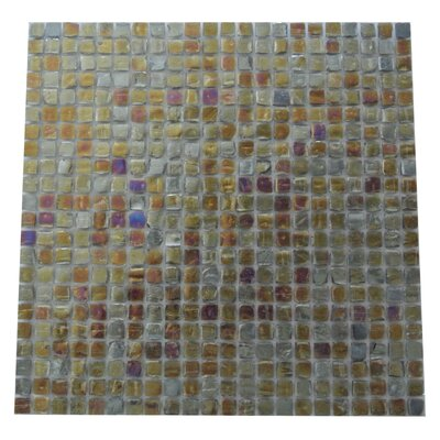 Ecologic 0.38 x 0.38 Glass Mosaic Tile in Glazed Blue/Gray