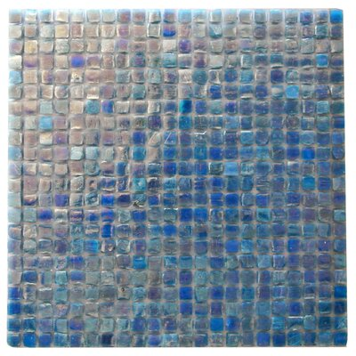 Ecologic 0.38 x 0.38 Glass Mosaic Tile in Glazed Blue