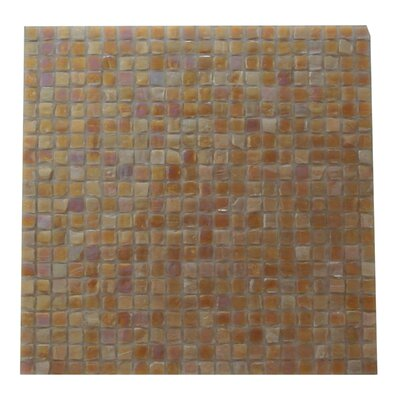 Ecologic 0.38 x 0.38 Glass Mosaic Tile in Carmel