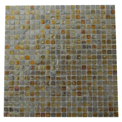 Ecologic 0.38 x 0.38 Glass Mosaic Tile in Glazed Brushed Gold