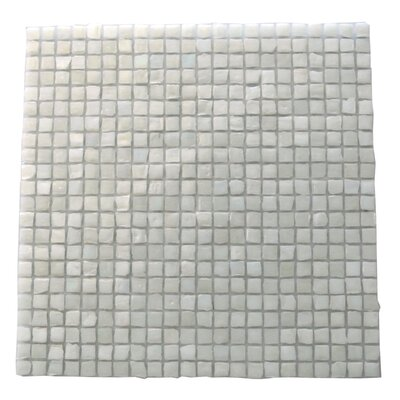 Ecologic 0.38 x 0.38 Glass Mosaic Tile in White