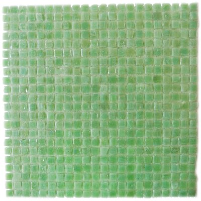Ecologic 0.38 x 0.38 Glass Mosaic Tile in Glazed Green