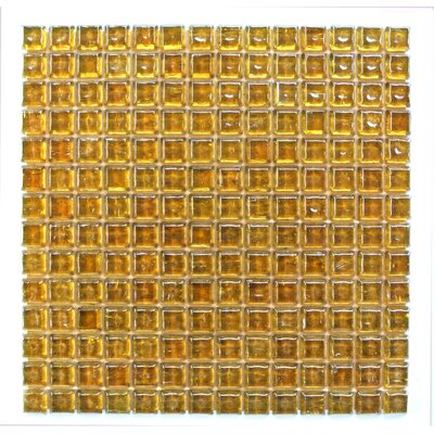 Ecologic 0.38 x 0.38 Glass Mosaic Tile in Orange