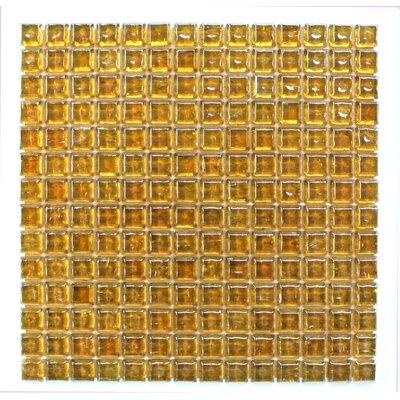 Ecologic 0.38 x 0.38 Glass Mosaic Tile in Orange