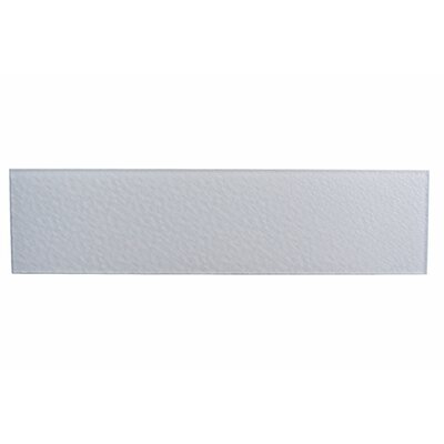 Monroe 4 x 16 Glass Field Tile in Glazed White