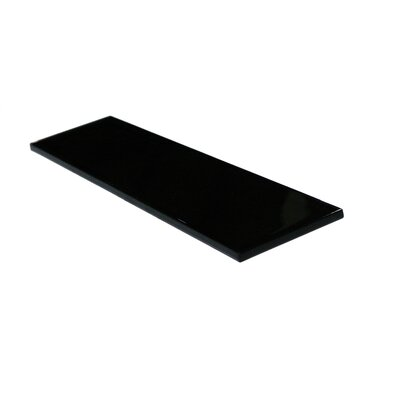 Metro 3 x 12 Glass Field Tile in Black