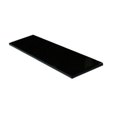 Metro 3 x 12 Glass Field Tile in Black