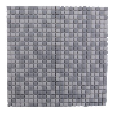 Full Body 0.5 x 0.5 Glass Mosaic Tile in Gray