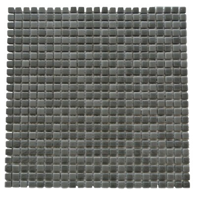Full Body 0.5 x 0.5 Glass Mosaic Tile in Dark Gray