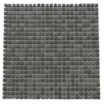 Full Body 0.5 x 0.5 Glass Mosaic Tile in Dark Gray