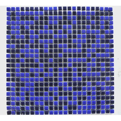 Full Body 0.5 x 0.5 Glass Mosaic Tile in Black/Blue