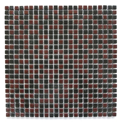 Full Body 0.5 x 0.5 Glass Mosaic Tile in Maroon/Black
