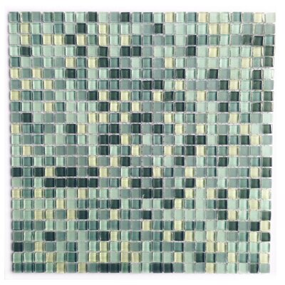 Petite 0.38 x 0.38 Glass Mosaic Tile in Sky Blue