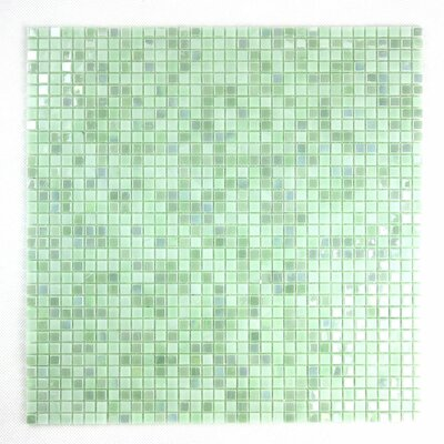 Galaxy Straight 0.31 x 0.31 Glass Mosaic Tile in Green