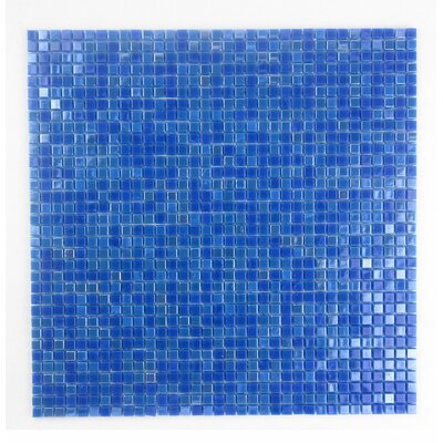 Galaxy Straight 0.31 x 0.31 Glass Mosaic Tile in Glazed Day Sky