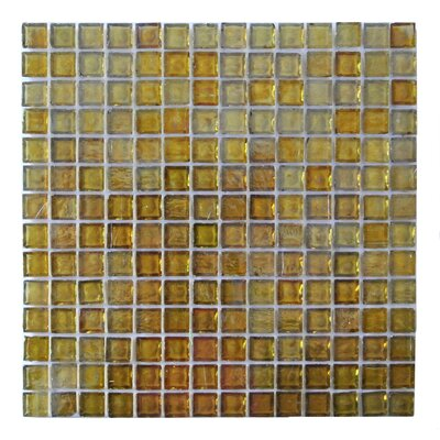 LEED Amber 0.75 x 0.75 Glass Mosaic Tile in Gold