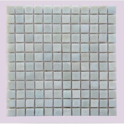 LEED Amber 0.75 x 0.75 Glass Mosaic Tile in Sea Oyster White