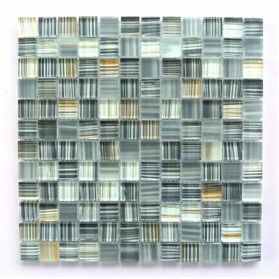 Handicraft 1 x 1 Glass Mosaic Tile in Ash Gray