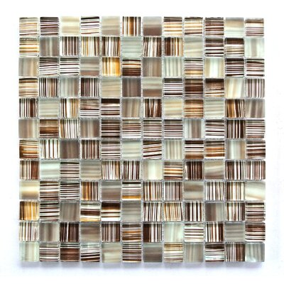 Handicraft 1 x 1 Glass Mosaic Tile in Light Brown