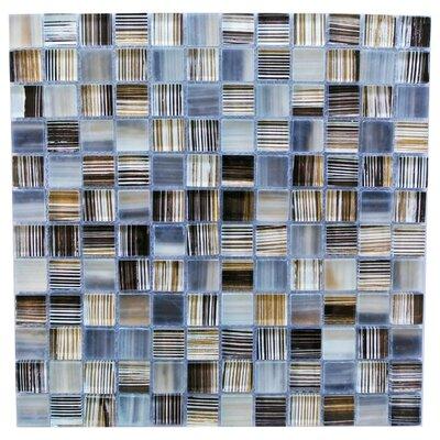 Handicraft 1 x 1 Glass Mosaic Tile in Blue Gray