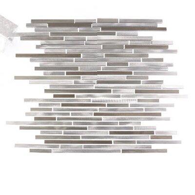 City Lights San Francisco Random Sized Aluminum Mosaic Tile in Glazed Silver