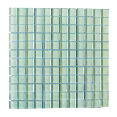 Metro 1 x 1 Glass Mosaic Tile in Arctic
