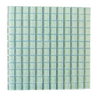 Metro 1 x 1 Glass Mosaic Tile in Arctic