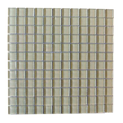 Metro 1 x 1 Glass Mosaic Tile in Cr�me