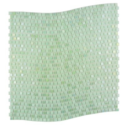 Galaxy Wavy 0.31 x 0.31 Glass Mosaic Tile in Green