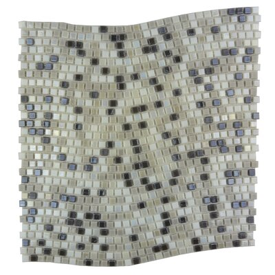 Galaxy Wavy 0.31 x 0.31 Glass Mosaic Tile in Gray