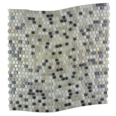 Galaxy Wavy 0.31 x 0.31 Glass Mosaic Tile in Gray