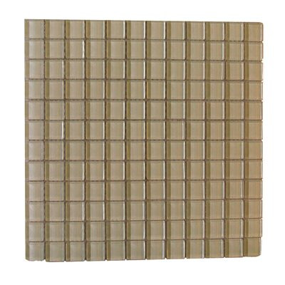 Metro 1 x 1 Glass Mosaic Tile in Light Brown