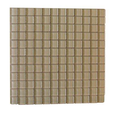 Metro 1 x 1 Glass Mosaic Tile in Light Brown