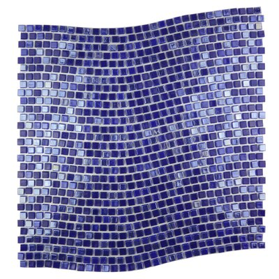 Galaxy Wavy 0.31 x 0.31 Glass Mosaic Tile in Purple