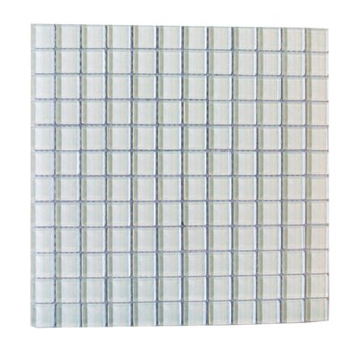 Metro 1 x 1 Glass Mosaic Tile in White