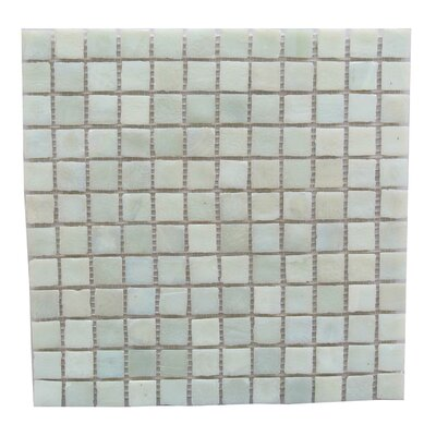 LEED Amber 1 x 1 Glass Mosaic Tile in Cream