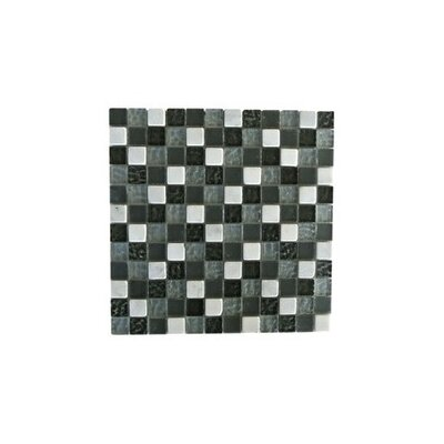 Quartz 1 x 1 Glass and Stone Mosaic Tile in Fusion