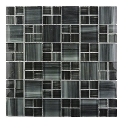 Handicraft II Random Sized Glass Mosaic Tile in Glazed  Lagoon