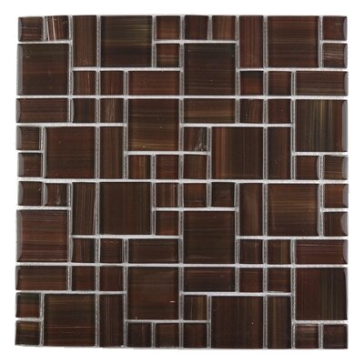 Handicraft II Random Sized Glass Mosaic Tile in Glazed Chocolate