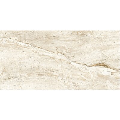 Thin Porcelain 23.6 x 47.2 Porcelain Field Tile in Beige Calacatta Oro