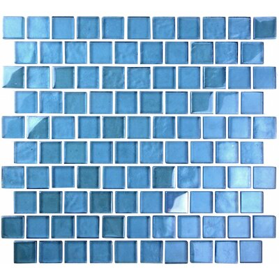 Landscape 1 x 1 Glass Mosaic Tile in Sky Blue