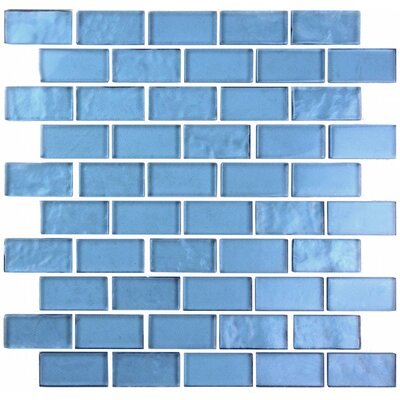 Landscape 1 x 2 Glass Mosaic Tile in Sky Blue